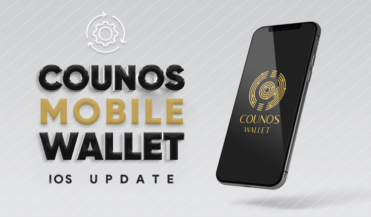 Latest iOS Version of Counos Mobile Wallet